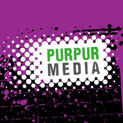 C21 Purpur Mediea PowerPoint Präsentationsdesign Design
