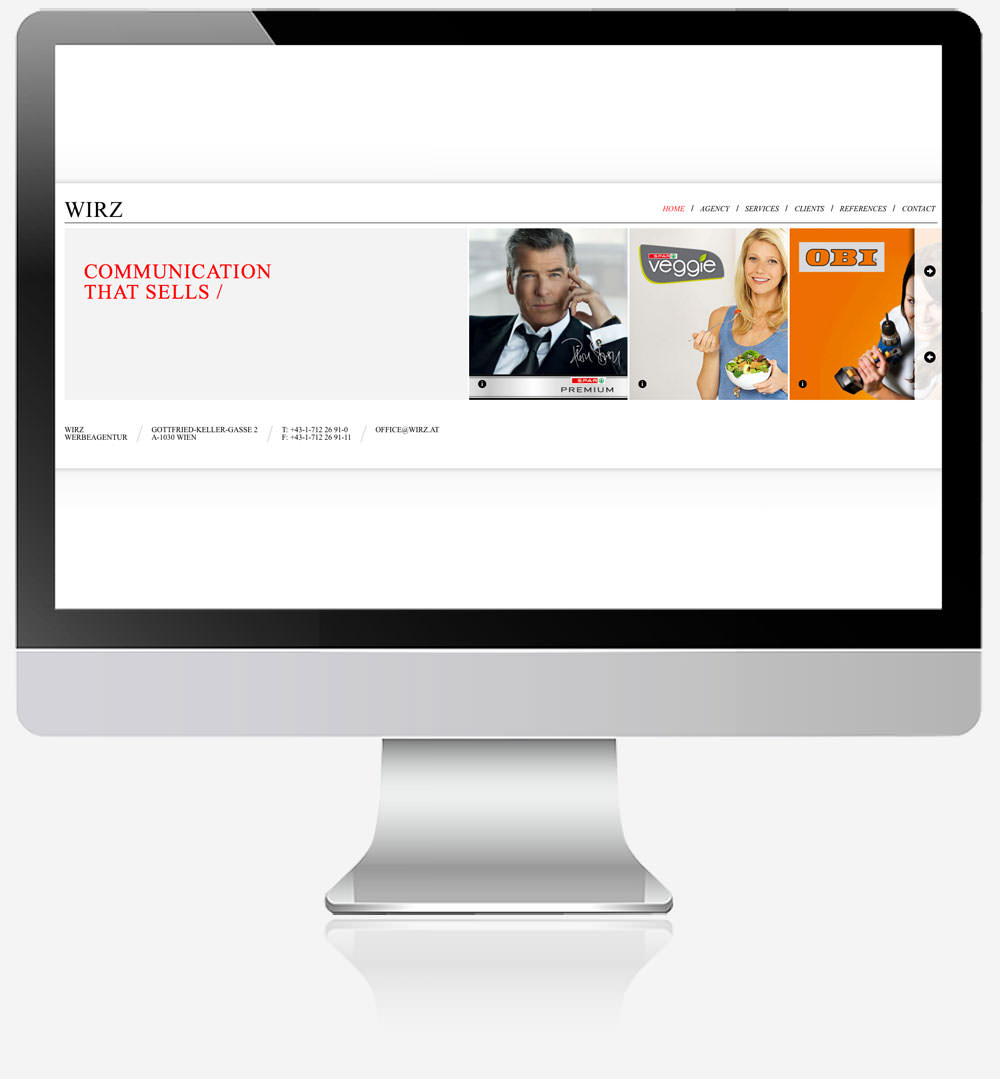 C21 Wirz Werbeagentur Website