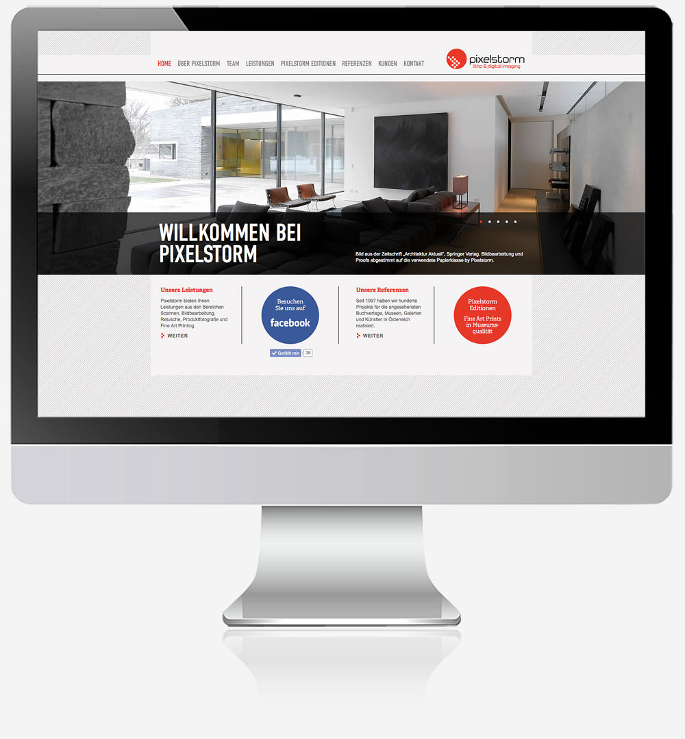 C21 Pixelstorm Website Webdesign