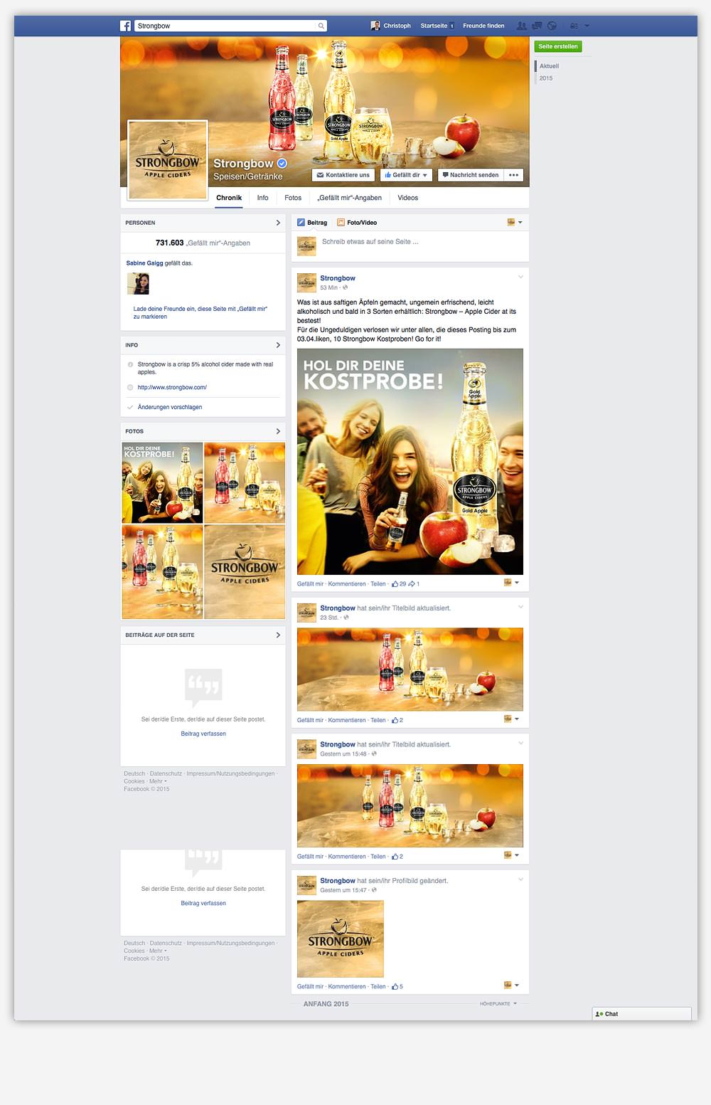 C21 Strongbow Cider Facebook Social Media Agentur