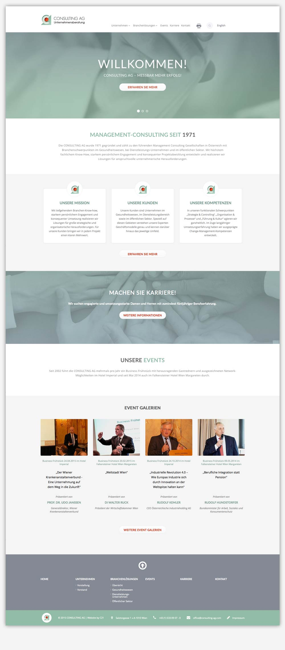 Consulting ag website c21 new media design websites for Consulting website