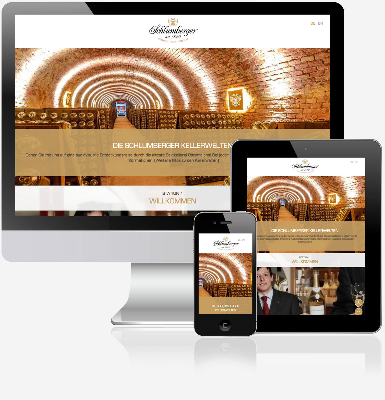 C21 new media design Schlumberger Kellerwelten Website Online Agentur Wien