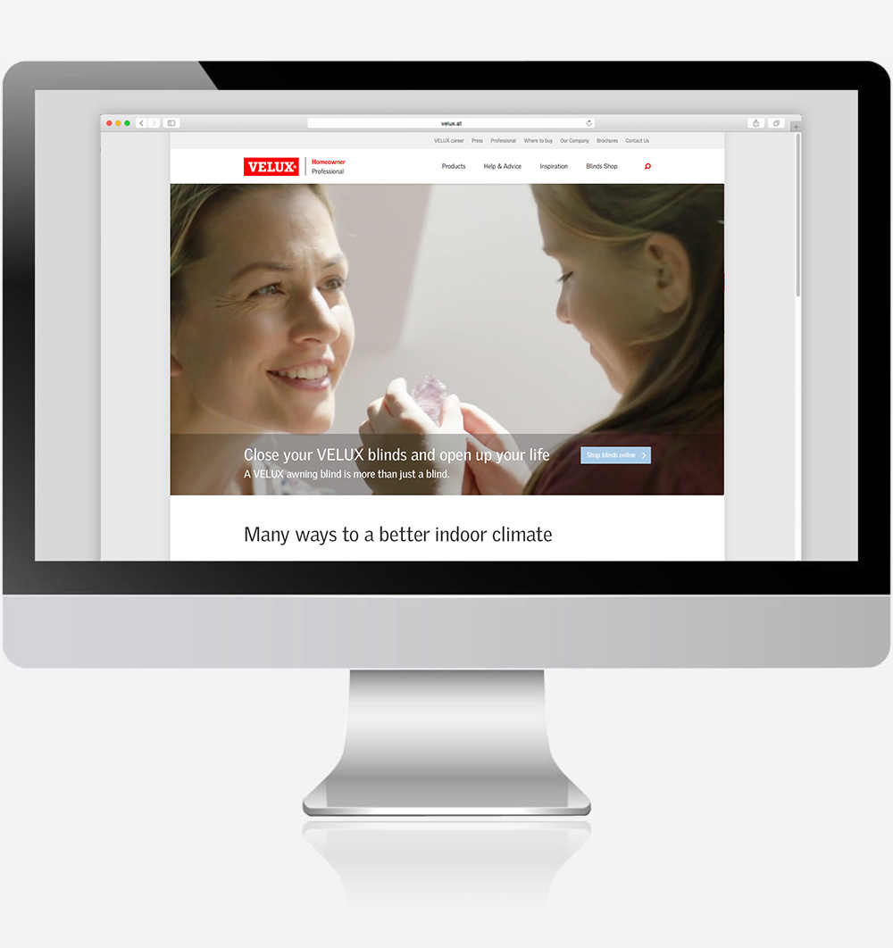 Velux Kampagne Heat Protection Social-Media Webbanner Landingpage C21 new media online Agentur wien