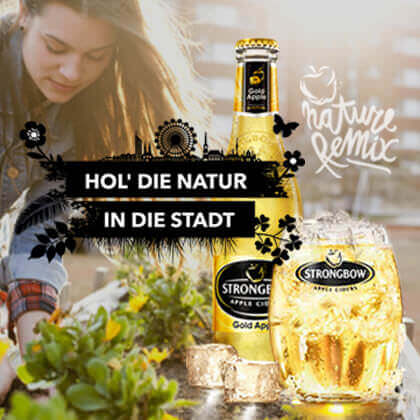 Strongbow Cider Brau Union C21 new media design Online Agentur Webagentur Digitalagentur Wien