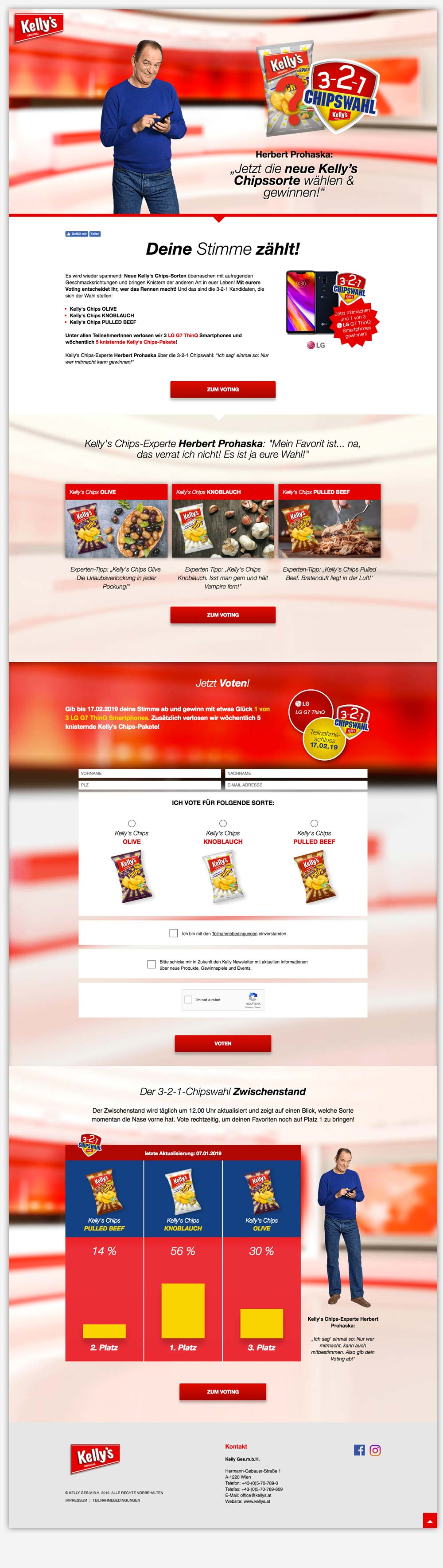 Kellys Chips 321 Chipswahl 2019 Website C21 new media design Online Agentur Wien