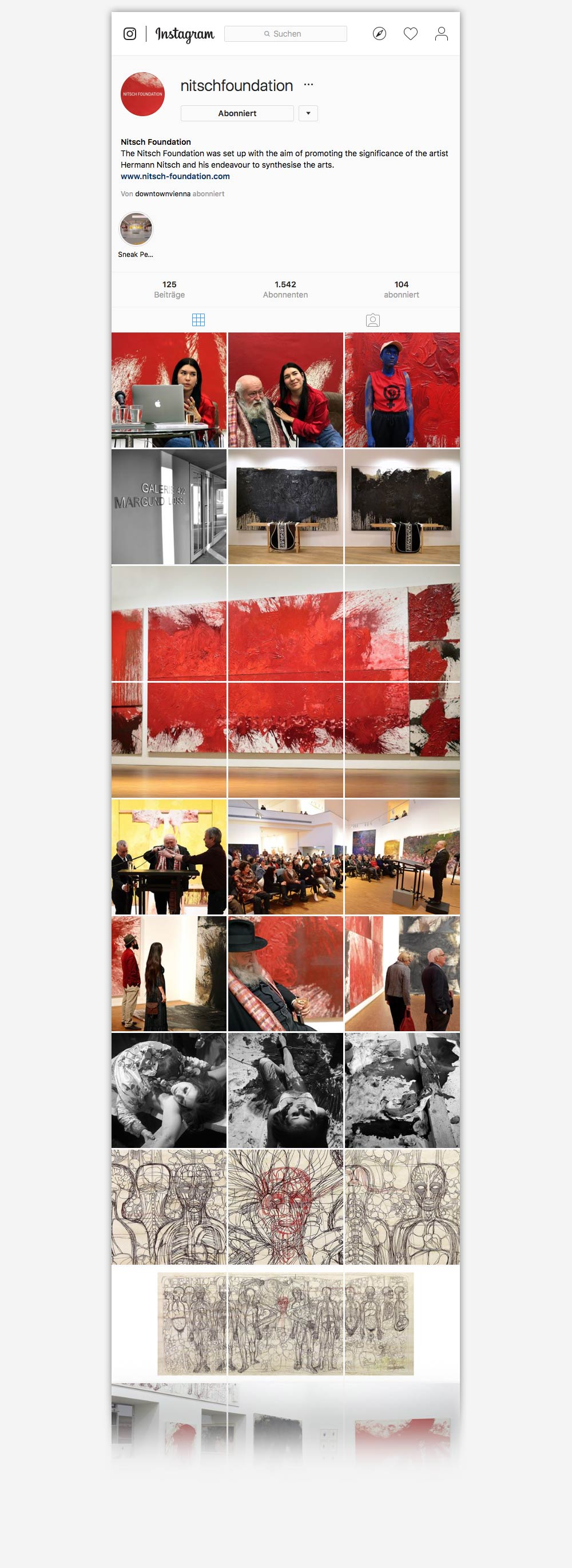 Nitsch Foundation Hermann Nitsch C21 new media design Social Media Facebook Social Media Agentur Webagentur Digitalagentur Online Agentur Wien