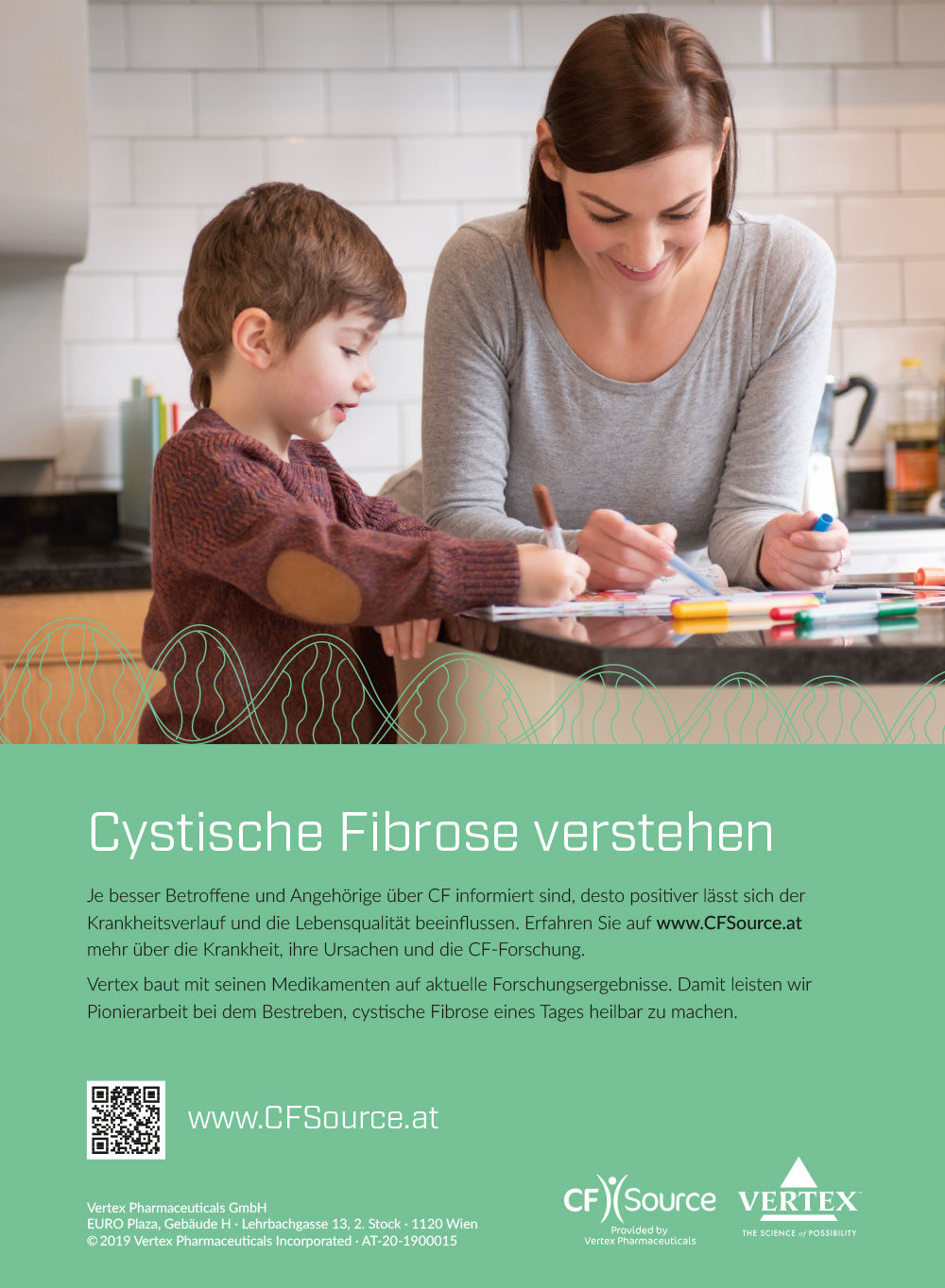 Vertex Pharma Anzeigenkampagne Patienten C21 new media design Werbeagentur Digitalagentur Wien