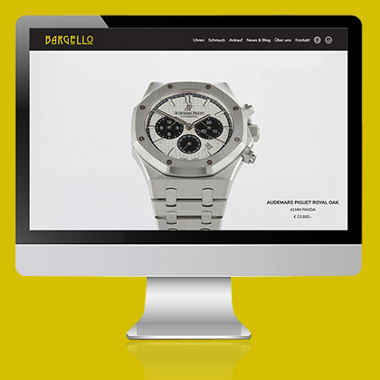 Bargello Juwelier Baden Rolex Audemars Piguet Patek Philippe Website Webdesign C21 new media design Online Agentur Digitalagentur Wien