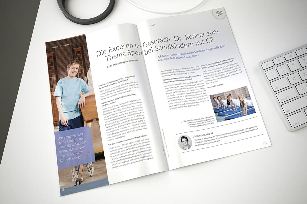 C21 new media design Graphic Design Agentur Wien CFSource Magazin Vertex Pharma