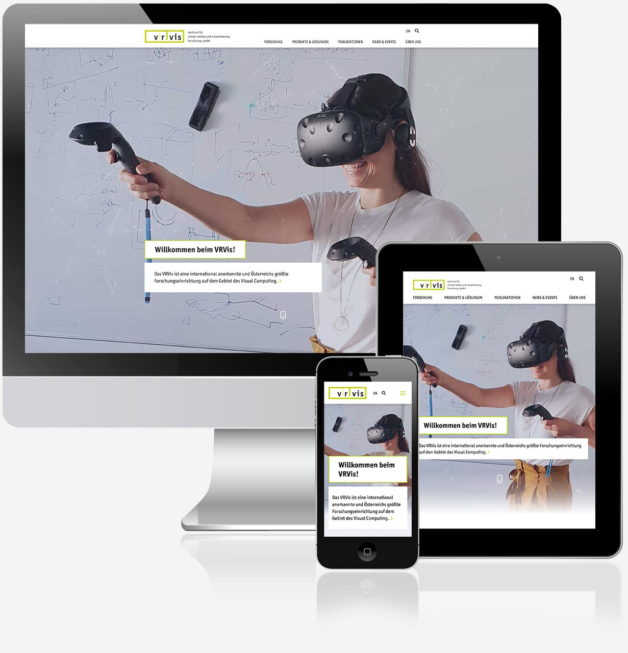 VRVis Zentrum für Virtual Reality und Visualisierung Forschungs-GmbH Website C21 new media design Online Agentur Webagentur Digitalagentur Wien